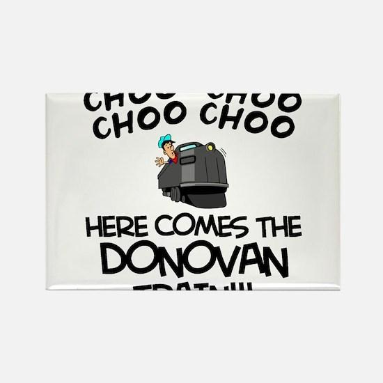 Donovan Train Rectangle Magnet