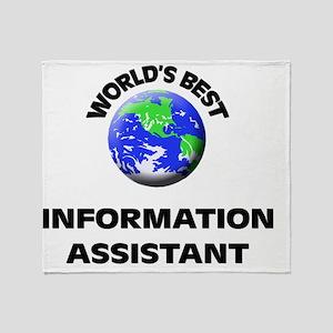 World's Best Information Assistant Throw Blanket