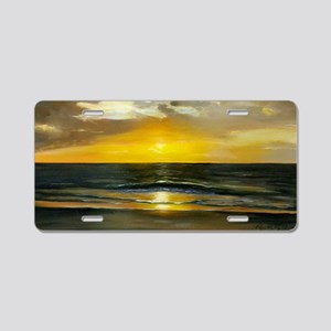 Coco Beach by Roger Brady B Aluminum License Plate
