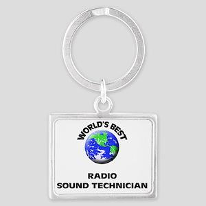 World's Best Radio Sound Techni Landscape Keychain