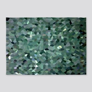 Broken Glass Art 5'x7'Area Rug