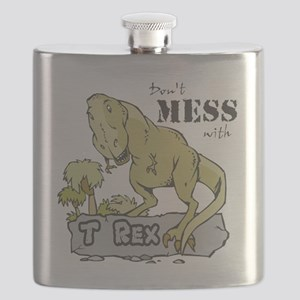 Dont Mess With T Rex Flask
