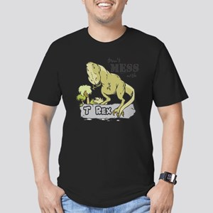 Dont Mess With T Rex Men's Fitted T-Shirt (dark)