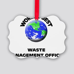 World's Best Waste Management Off Picture Ornament