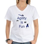Agility Is Fun JAMD Women's V-Neck T-Shirt