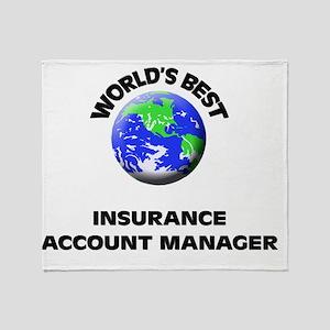 World's Best Insurance Account Manag Throw Blanket