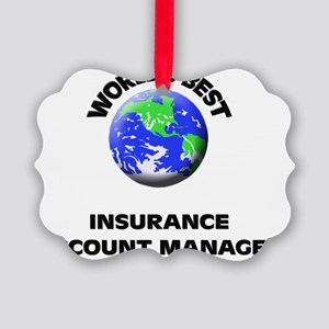 World's Best Insurance Account Ma Picture Ornament