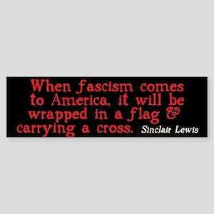 Sinclair Lewis on Fascism Bumper Sticker