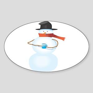 Cold Snowman Sticker