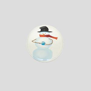 Cold Snowman Mini Button