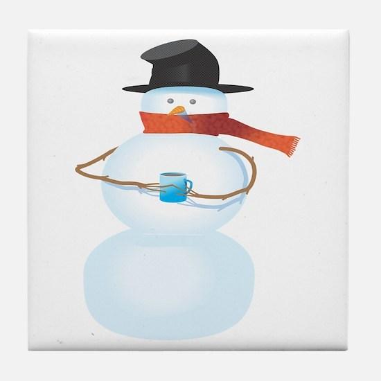 Cold Snowman Tile Coaster