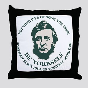 thoreau-be-you-LTT Throw Pillow