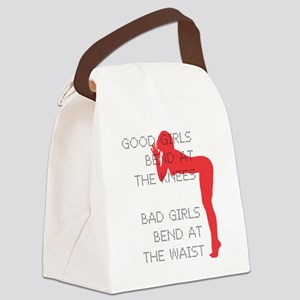 Good Girls Bend at the Knees Canvas Lunch Bag