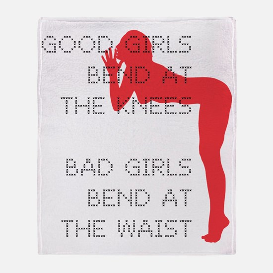 Good Girls Bend at the Knees Throw Blanket