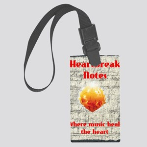 Hearbreak Notes A5 Design white  Large Luggage Tag