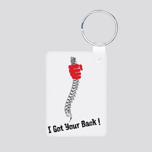 I got your back! Aluminum Photo Keychain