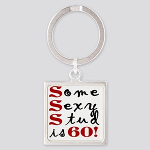 Funny 60th Birthday Gift For Men Square Keychain