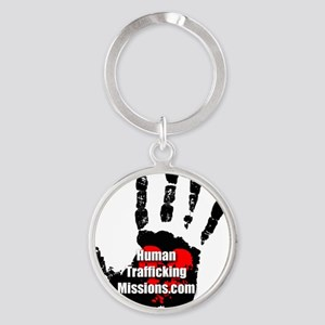 Human Trafficking Missions Small Lo Round Keychain