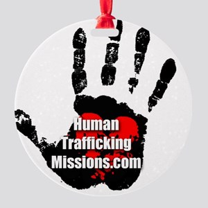 Human Trafficking Missions Small Lo Round Ornament
