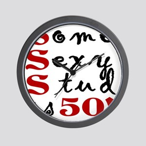 Funny 50th Birthday Gift For Men Wall Clock