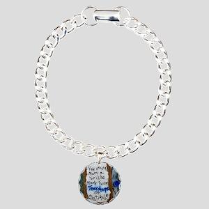 teardrops of gratitude Charm Bracelet, One Charm