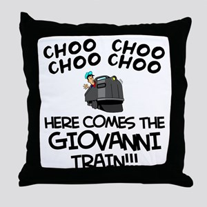 Giovanni Train Throw Pillow