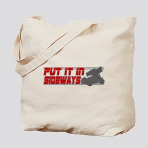 Sideways -Red/Grey Tote Bag