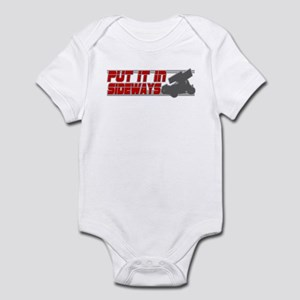 Sideways -Red/Grey Infant Bodysuit