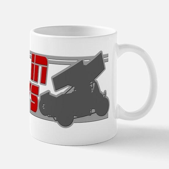 Sideways -Red/Grey Mug