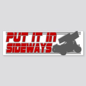 Sideways -Red/Grey Bumper Sticker