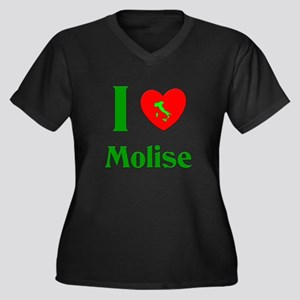 I Love Molise Italy Women's Plus Size V-Neck Dark