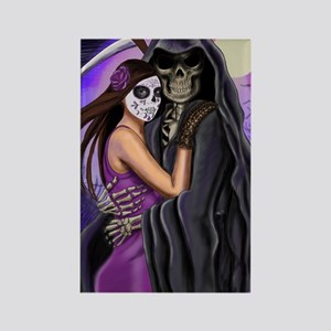 Grim Reaper Lovers Embrace Rectangle Magnet