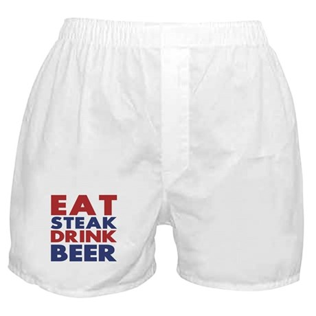 Eat Steak Drink Beer Boxer Shorts