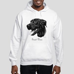Black Dane Hooded Sweatshirt