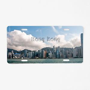 HongKong_4x9.25_FlatCard_Sk Aluminum License Plate