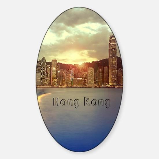HongKong_5.5x8.5_Journal_Skyline_Ce Sticker (Oval)