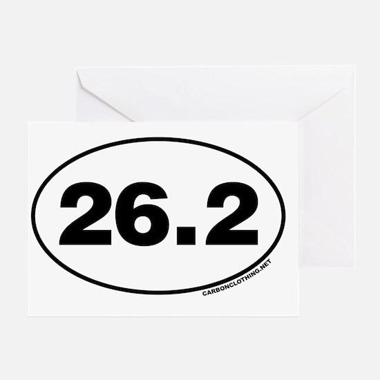 26.2 Miles Greeting Card
