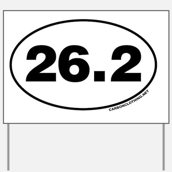 26.2 Miles Yard Sign