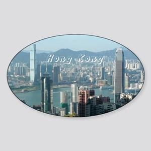 HongKong_5.5x7.5_FlatCard_HongKongS Sticker (Oval)