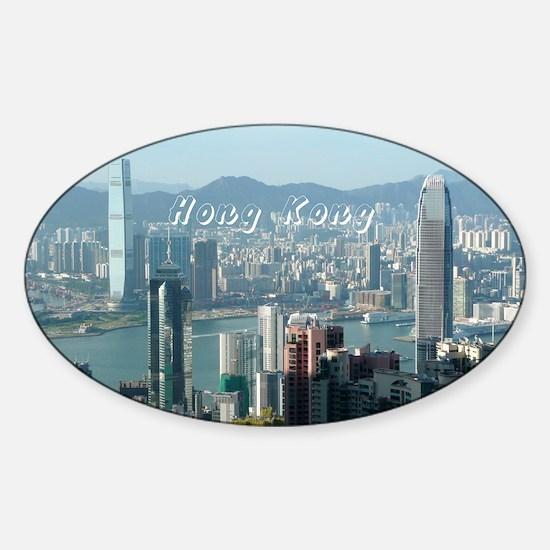 HongKong_5.5x7.5_FlatCard_HongKongS Sticker (Oval)