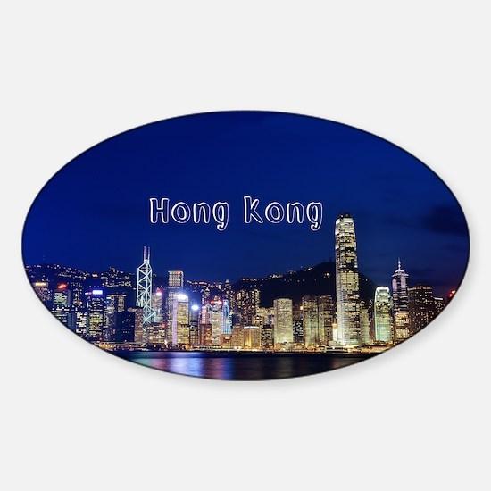 HongKong_17.44x11.56_LargeServingTr Sticker (Oval)