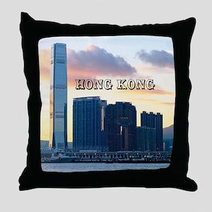 HongKong_11x9_InternationalCommerceCe Throw Pillow