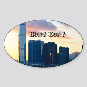HongKong_11x9_InternationalCommerce Sticker (Oval)