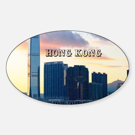 HongKong_11x9_InternationalCommerce Sticker (Oval)