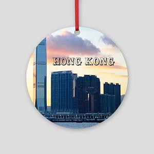 HongKong_11x9_InternationalCommerce Round Ornament