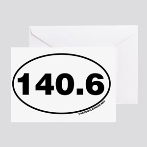 140.6 Miles Greeting Card
