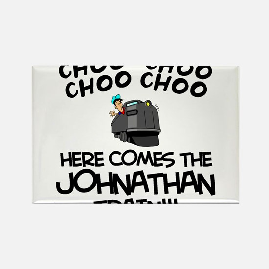 Johnathan Train Rectangle Magnet