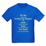 Herding Champion CDS Kids Dark T-Shirt