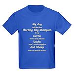 Herding Champion CDS Kids Dark T-Shirt