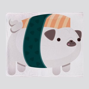Nigiri-Pug Throw Blanket